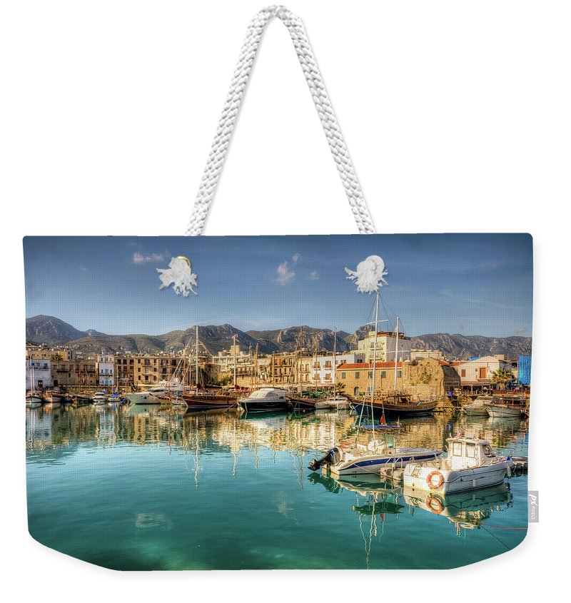 Tranquility Weekender Tote Bag featuring the photograph Girne Kyrenia , North Cyprus by Nejdetduzen