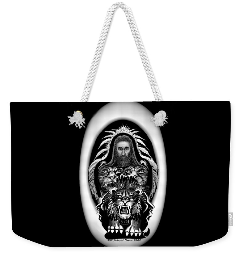 Pastel Chalk Weekender Tote Bag featuring the drawing Give Us The Truth 2 by Ras Tafari