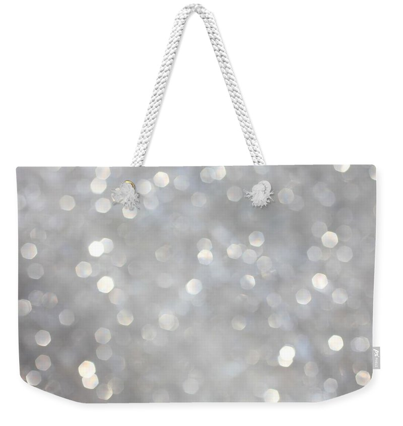 Holiday Weekender Tote Bag featuring the photograph Glittery Background by Merrymoonmary