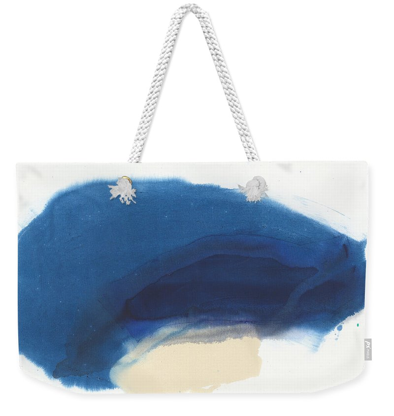 Abstract Weekender Tote Bag featuring the painting Go Easy by Claire Desjardins