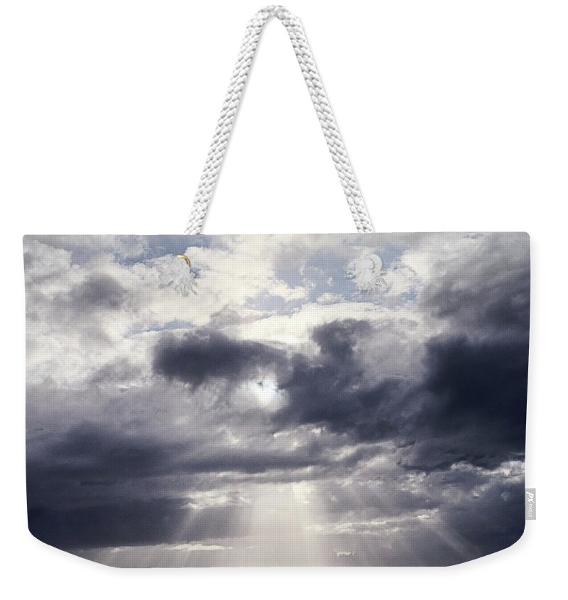 Scenics Weekender Tote Bag featuring the photograph Gods Above Us by Ioseph