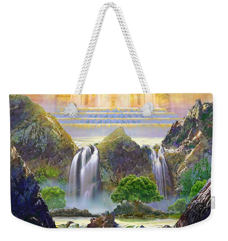 Heaven Weekender Tote Bag featuring the painting God's Holy Hill by Todd L Thomas