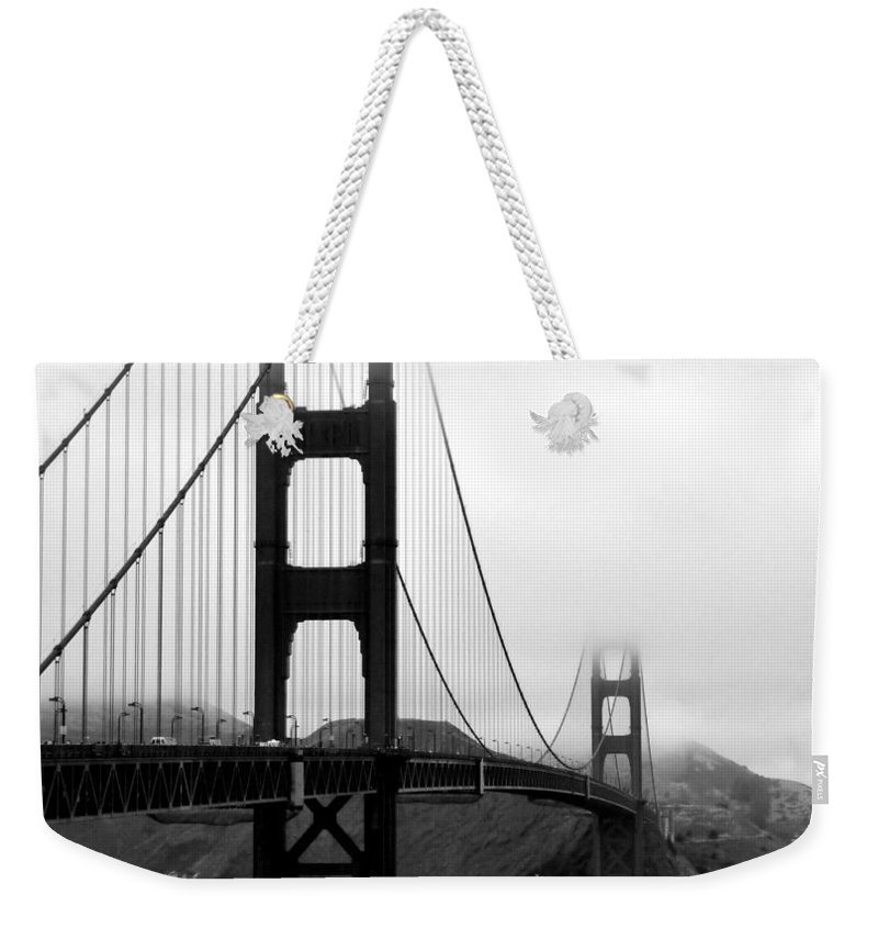 San Francisco Weekender Tote Bag featuring the photograph Golden Gate Bridge by Federica Gentile