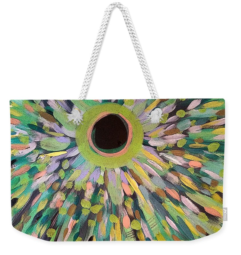 Abstract Weekender Tote Bag featuring the painting Golden by Jordan Harcourt-Hughes