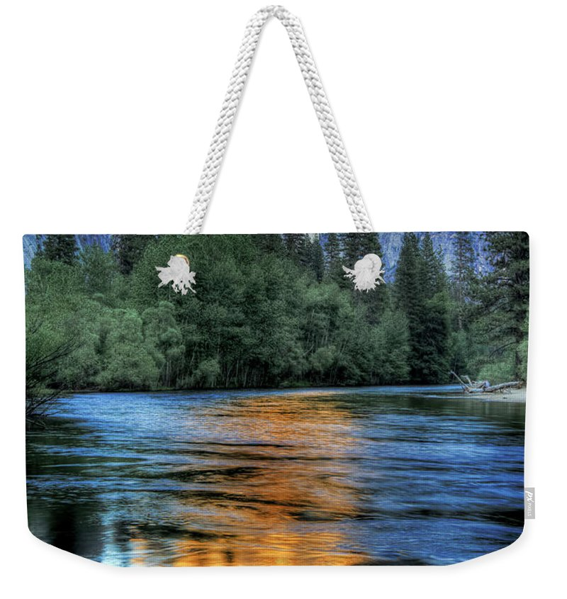 Scenics Weekender Tote Bag featuring the photograph Golden Light On Half Dome by Mimi Ditchie Photography
