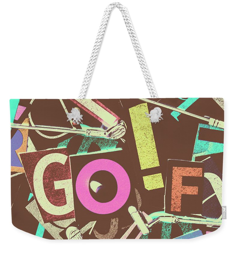 Letterpress Weekender Tote Bag featuring the photograph Golfing Print Press by Jorgo Photography - Wall Art Gallery