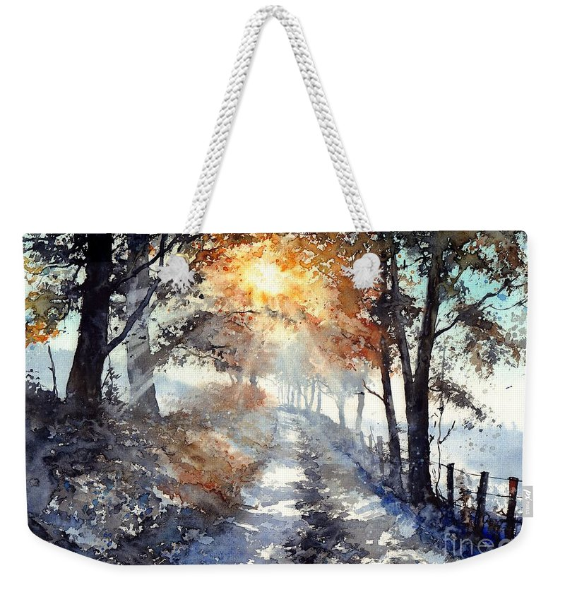 Wild Weekender Tote Bag featuring the painting Good Morning Sun by Suzann Sines