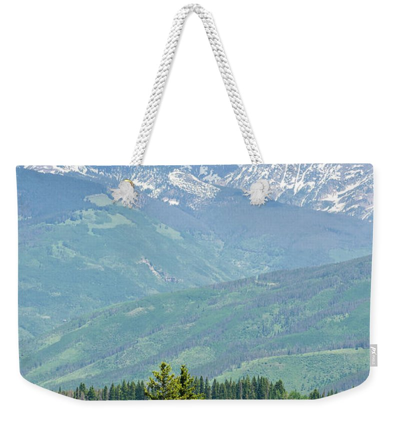 Scenics Weekender Tote Bag featuring the photograph Gore Range Mountains In Summer Colorado by Adventure photo