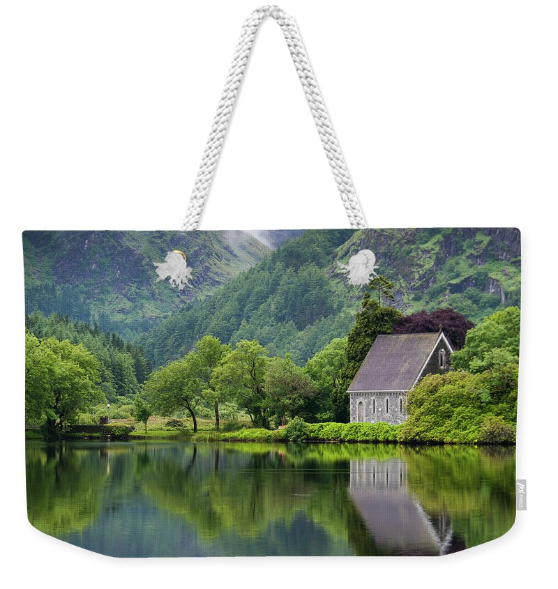 Tranquility Weekender Tote Bag featuring the photograph Gougane Barra Forest Park And Lake by Bradley L. Cox