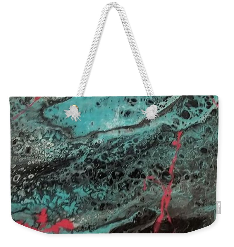 Acrylic Weekender Tote Bag featuring the painting Graffiti 001 by Nicole Chambers