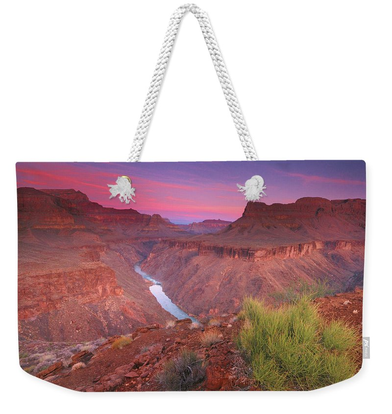 Scenics Weekender Tote Bag featuring the photograph Grand Canyon Sunrise by David Kiene