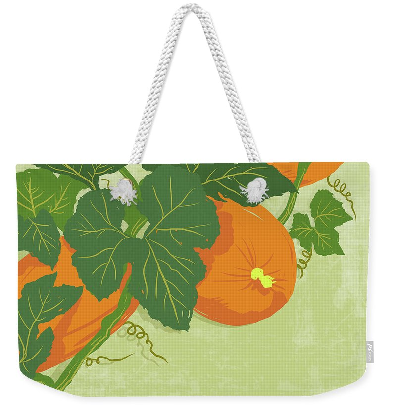 Part Of A Series Weekender Tote Bag featuring the digital art Graphic Illustration Of Pumpkins by Don Bishop