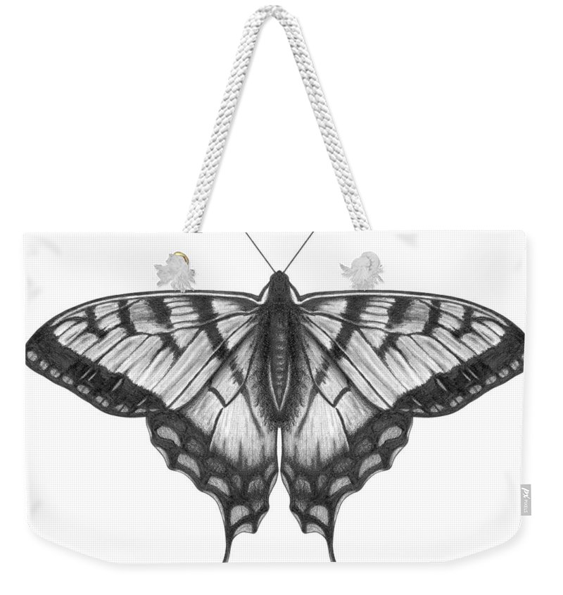 Art Weekender Tote Bag featuring the digital art Graphite Illustration Of A Beautiful by Ranplett
