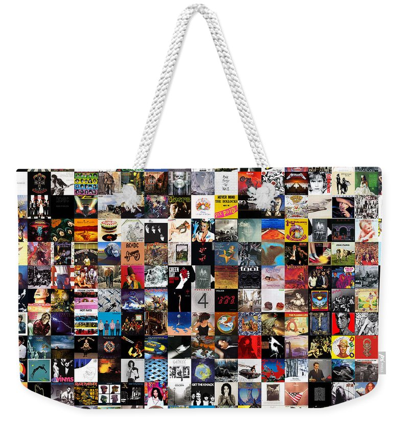 Album Covers Weekender Tote Bag featuring the digital art Greatest Album Covers of All Time by Zapista OU
