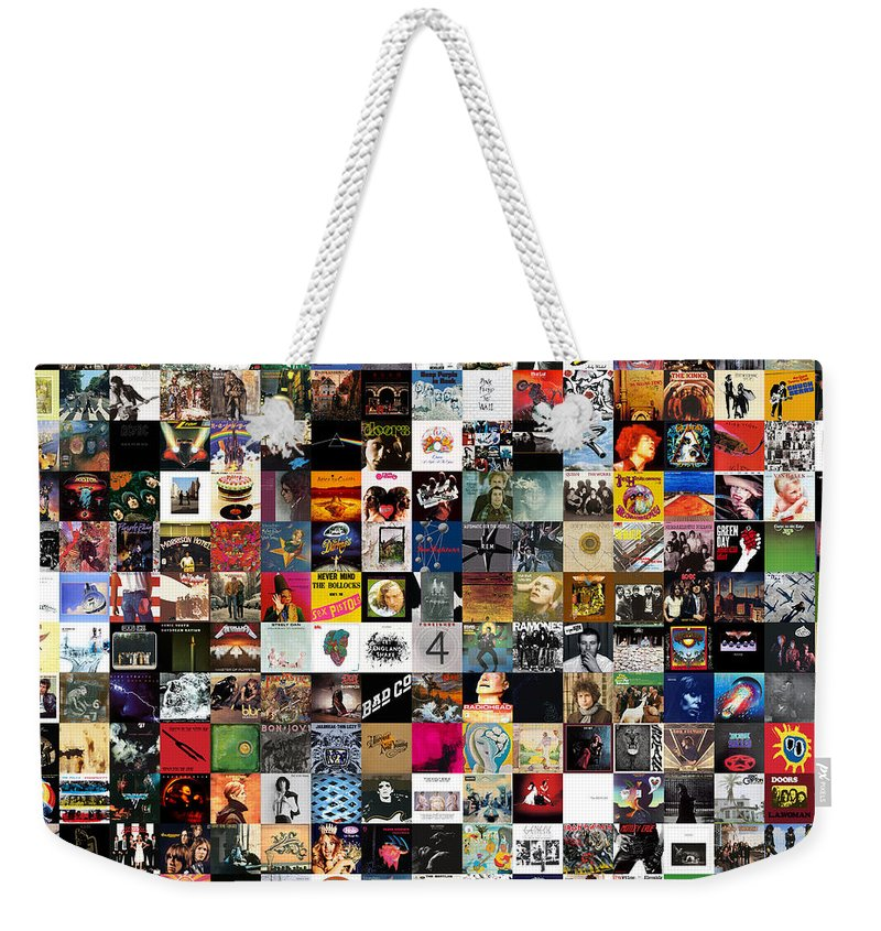 Album Covers Weekender Tote Bag featuring the digital art Greatest Rock Albums Of All Time by Zapista Zapista
