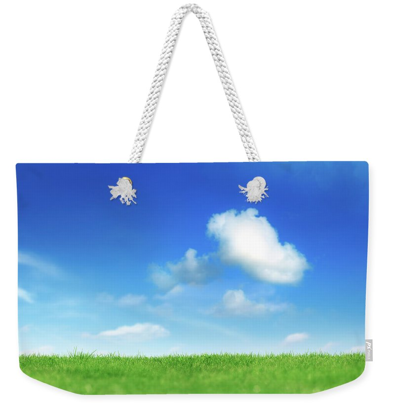 Scenics Weekender Tote Bag featuring the photograph Green And Blue by Imagedepotpro