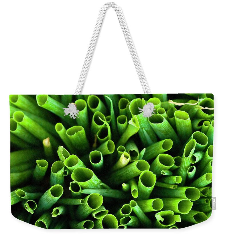 Large Group Of Objects Weekender Tote Bag featuring the photograph Green Onions by By Ken Ilio