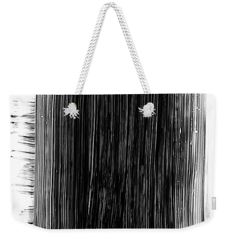 Art Weekender Tote Bag featuring the photograph Grunge Black Paint Brush Stroke by 77studio