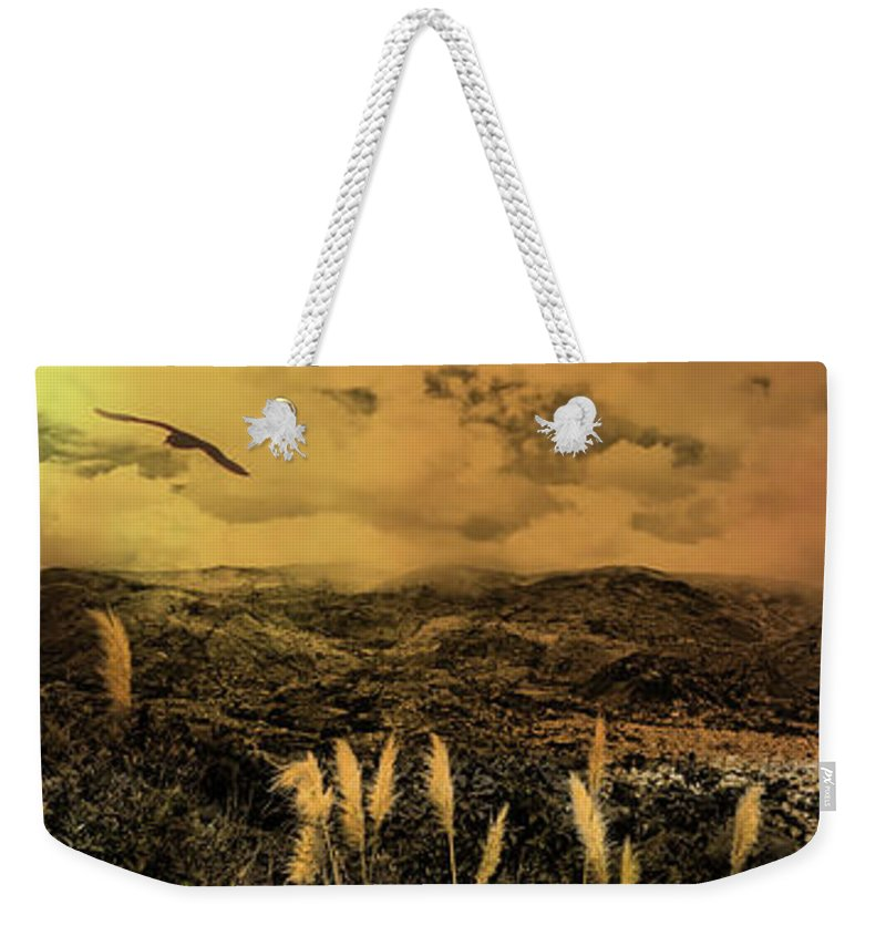 Gualaceo Weekender Tote Bag featuring the photograph Gualaceo, Ecuador Panorama by Al Bourassa