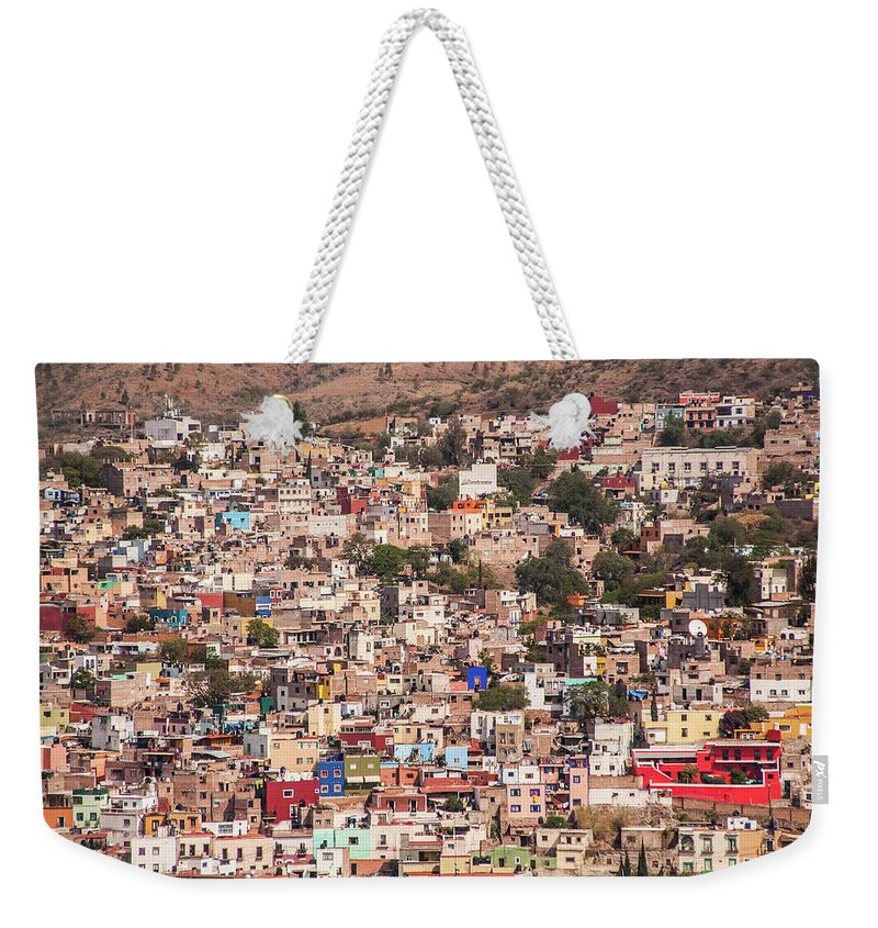 Scenics Weekender Tote Bag featuring the photograph Guanajuato by Maryann Flick