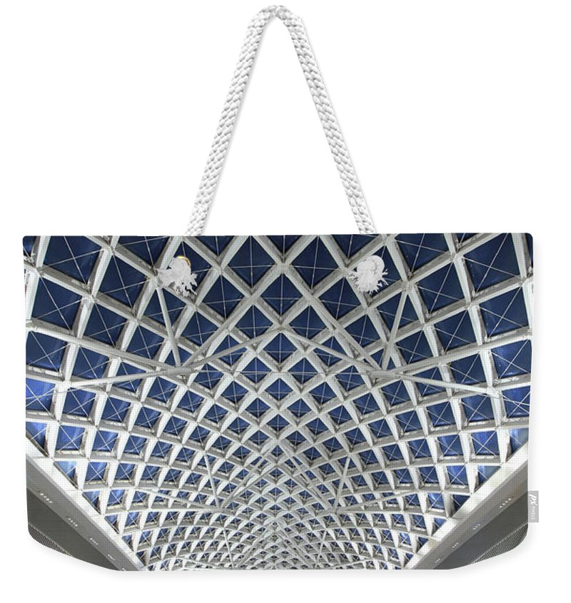 Chinese Culture Weekender Tote Bag featuring the photograph Guangzhou Railway Station by Real444
