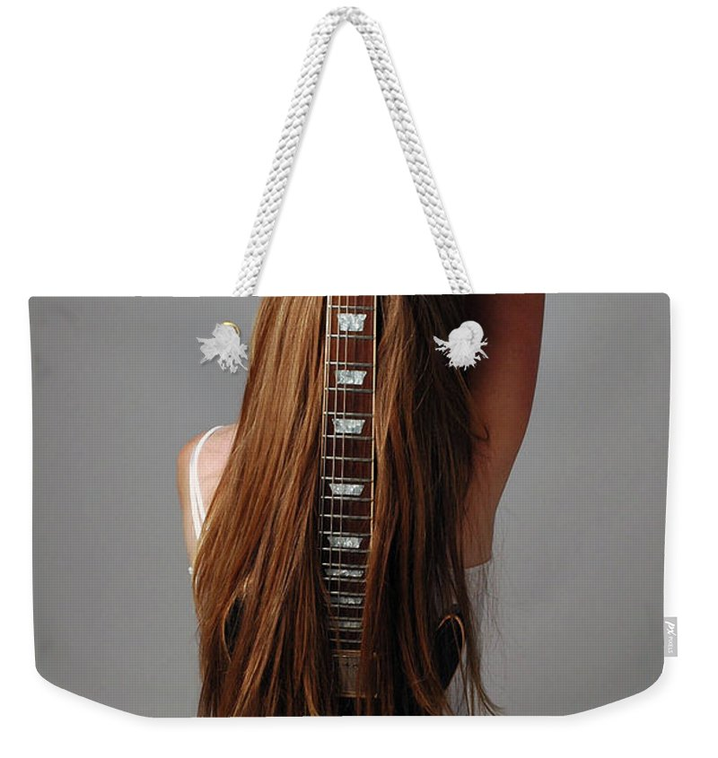 Human Arm Weekender Tote Bag featuring the photograph Guitar Shaped Body by Image Taken By Mayte Torres