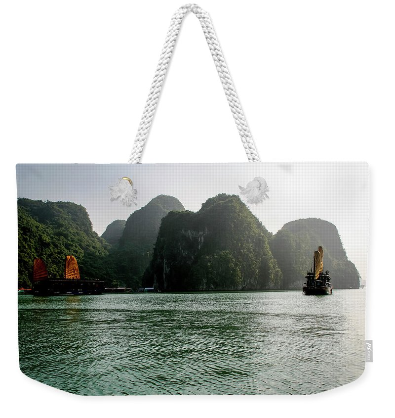 Scenics Weekender Tote Bag featuring the photograph Halong Bay by Rafax