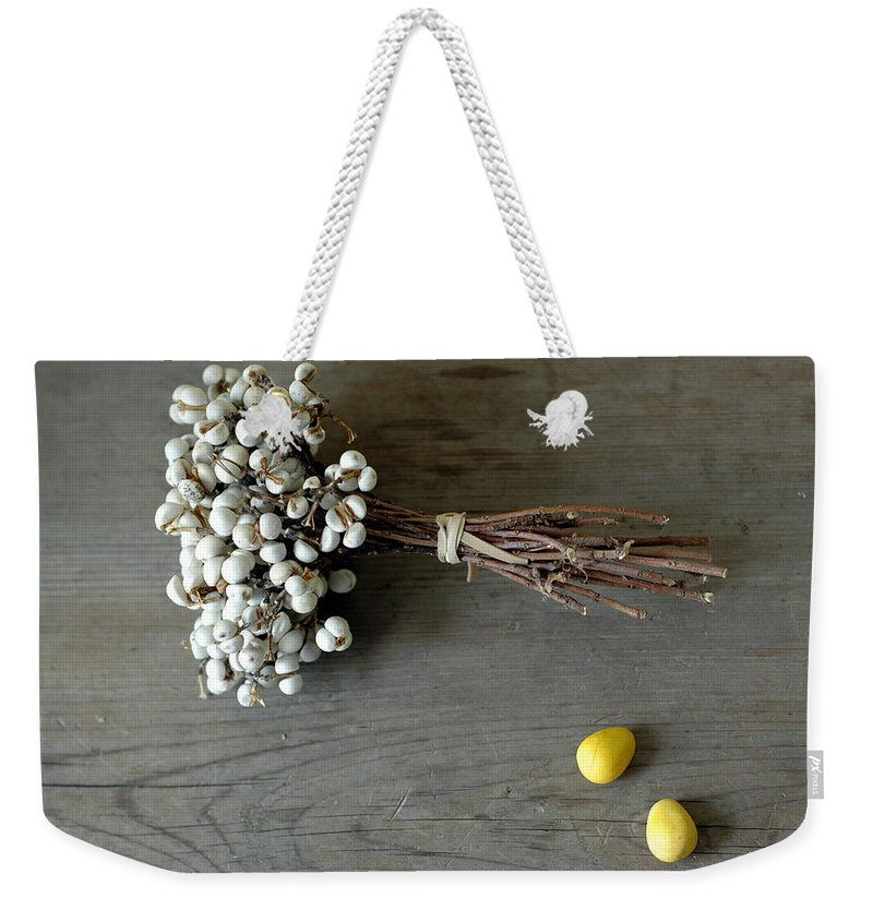 Easter Weekender Tote Bag featuring the photograph Happy Easter by Jennifer Causey