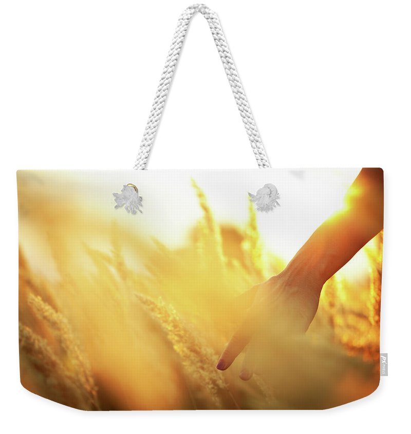 Farm Worker Weekender Tote Bag featuring the photograph Harvest In The Morning by Aleksandarnakic