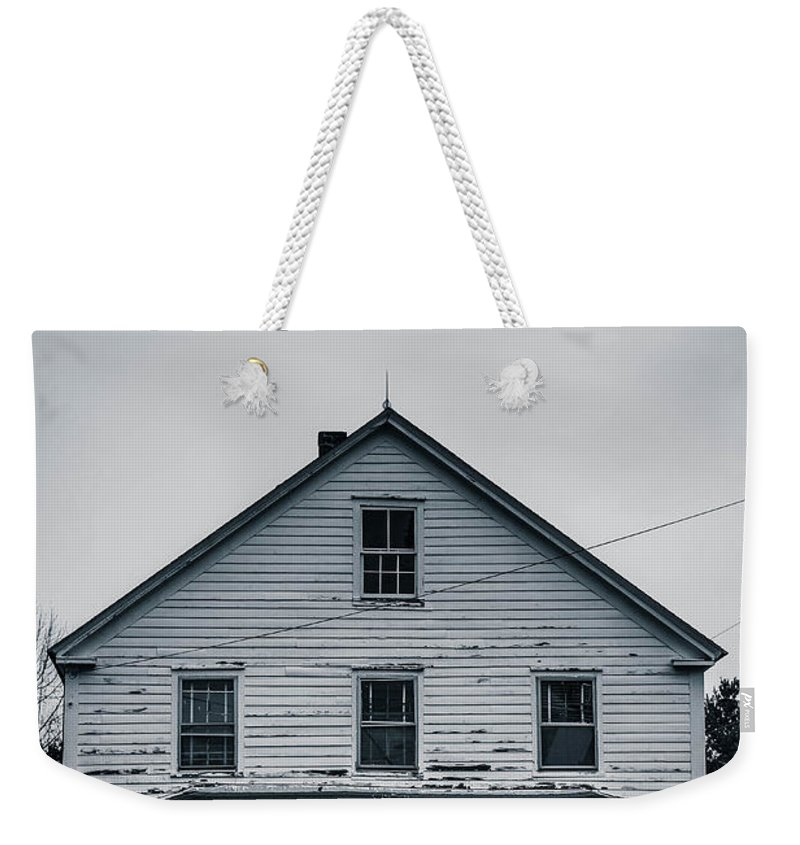 Home Weekender Tote Bag featuring the photograph Haunted House October by Edward Fielding