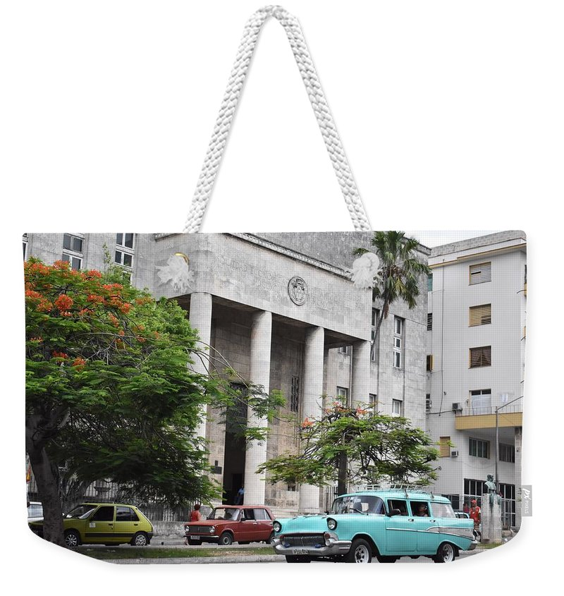 Havana Weekender Tote Bag featuring the photograph Havana by Cassidy Marshall