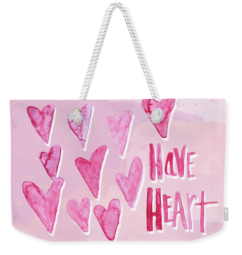 Have Weekender Tote Bag featuring the mixed media Have Heart by Sd Graphics Studio