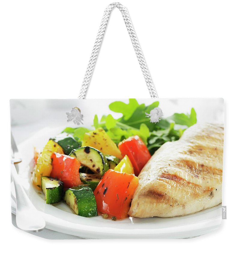 Chicken Meat Weekender Tote Bag featuring the photograph Healthy Meal by Easybuy4u