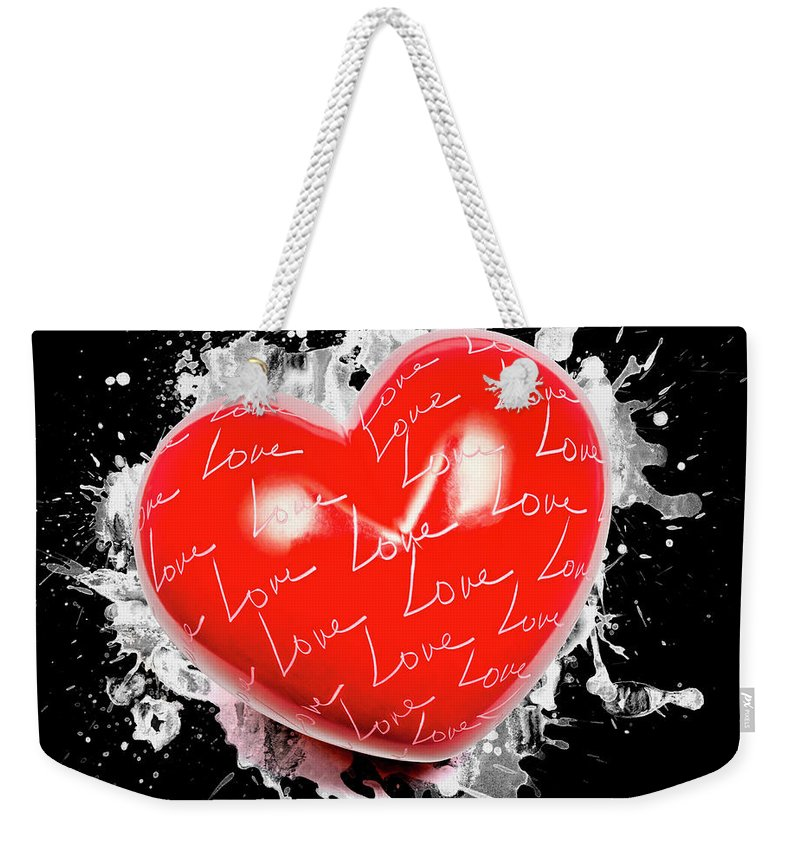 Love Weekender Tote Bag featuring the photograph Heart Art by Jorgo Photography - Wall Art Gallery