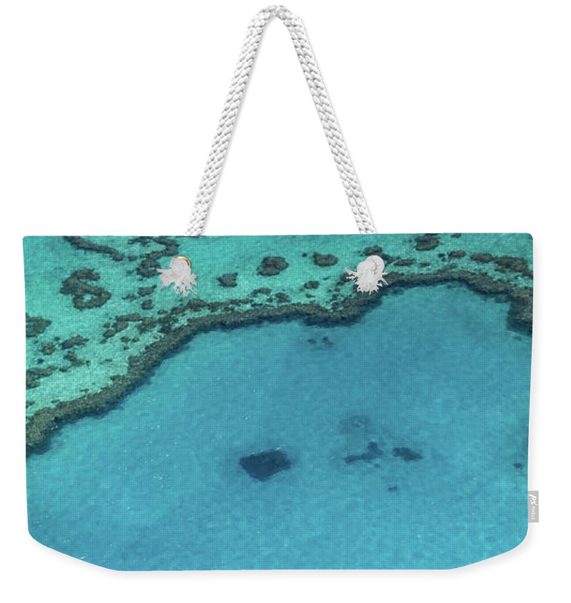 Panoramic Weekender Tote Bag featuring the photograph Heart Reef, Great Barrier Reef by Francesco Riccardo Iacomino