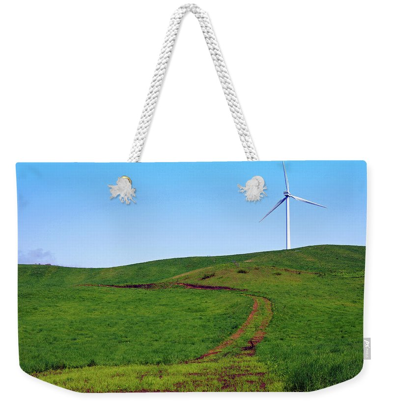 Environmental Conservation Weekender Tote Bag featuring the photograph Hill by The Landscape Of Regional Cities In Japan.