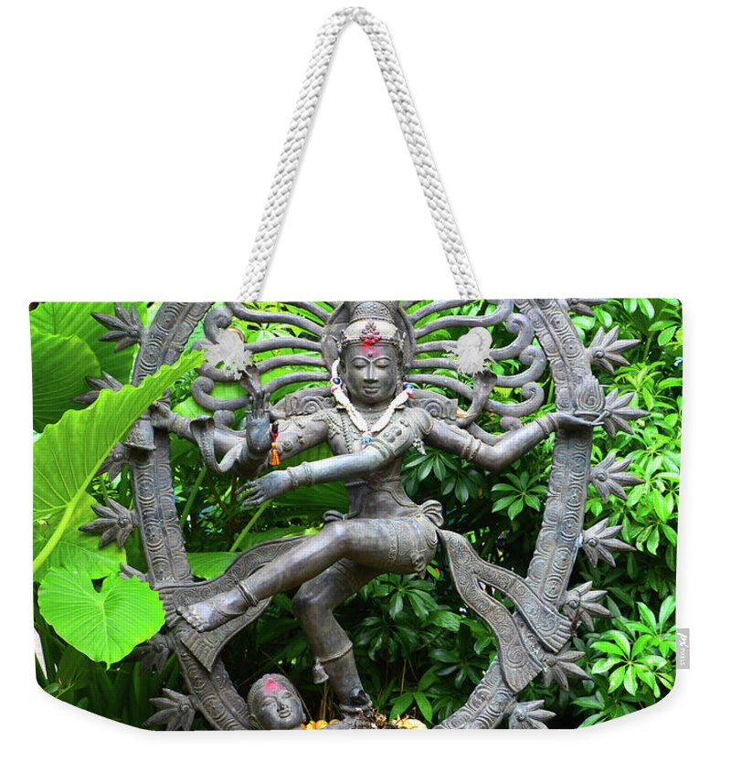 Hindu Weekender Tote Bag featuring the photograph Hindu Statue by David Lee Thompson
