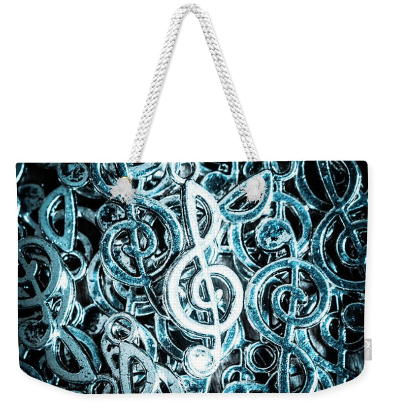 Club Weekender Tote Bag featuring the photograph Hitting Key Harmonics by Jorgo Photography - Wall Art Gallery