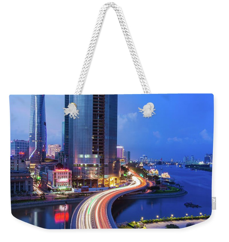 Ho Chi Minh City Weekender Tote Bag featuring the photograph Ho Chi Minh City At Night by Jethuynh