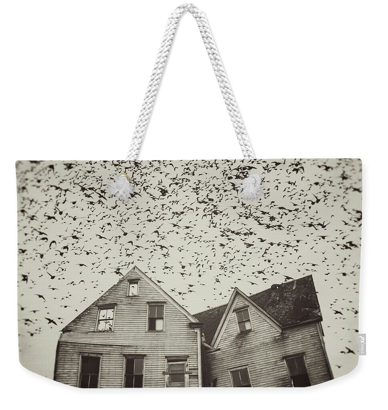 Spooky Weekender Tote Bag featuring the photograph Home Of Murmuration by Shaunl