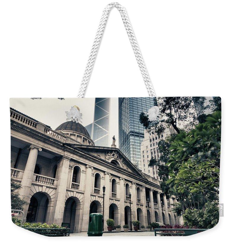 Chinese Culture Weekender Tote Bag featuring the photograph Hong Kong Legislative Council by Laoshi