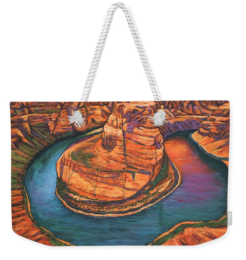 Arizona Weekender Tote Bag featuring the painting Horseshoe Bend Sunset by Johnathan Harris
