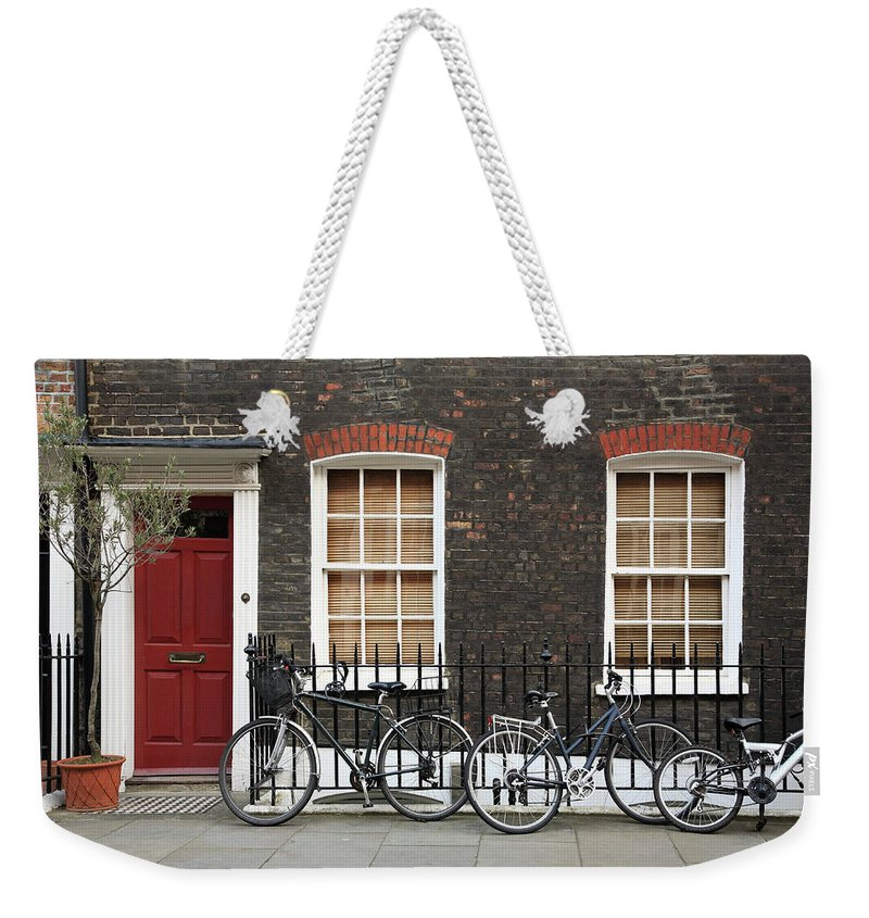 Row House Weekender Tote Bag featuring the photograph House In London by Imagestock