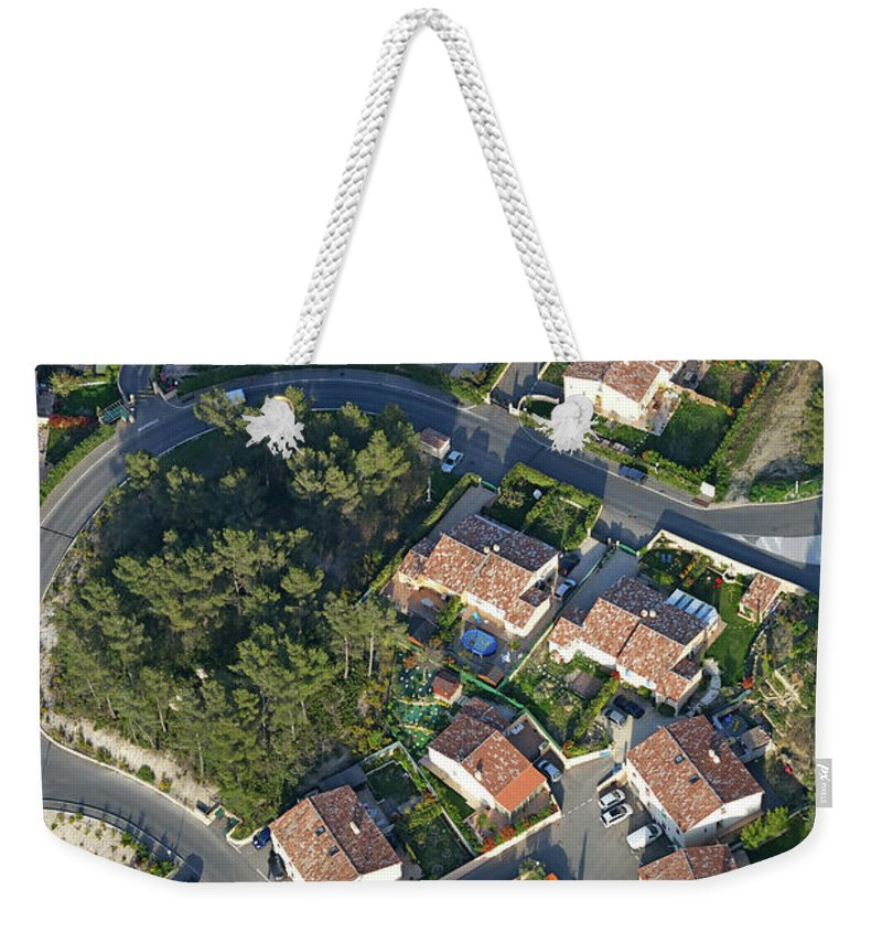 Tranquility Weekender Tote Bag featuring the photograph Housing Development, Peypin, Aerial View by Sami Sarkis