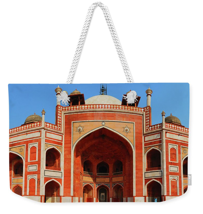 Arch Weekender Tote Bag featuring the photograph Humayuns Tomb, New Delhi by Mukul Banerjee Photography