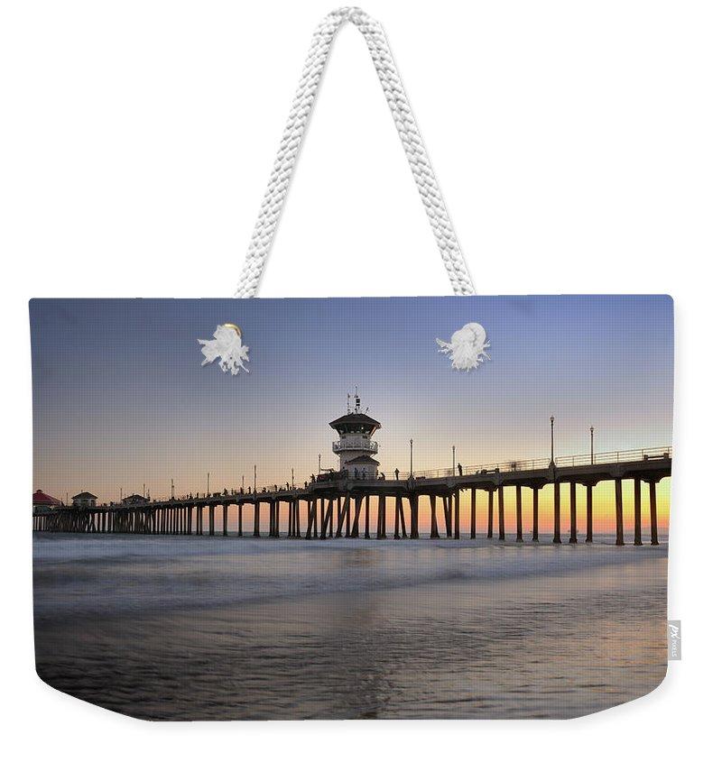 Scenics Weekender Tote Bag featuring the photograph Huntington Beach Pier, California Xxxl by 4fr