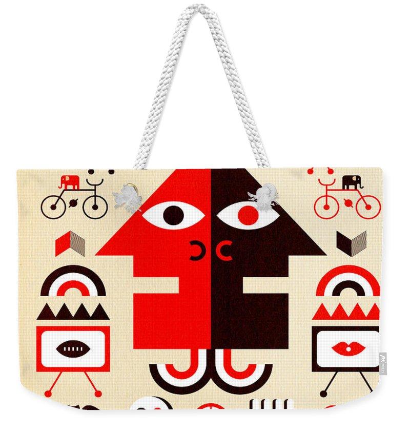 North Carolina Weekender Tote Bag featuring the digital art Hurricane Man by Scott Partridge