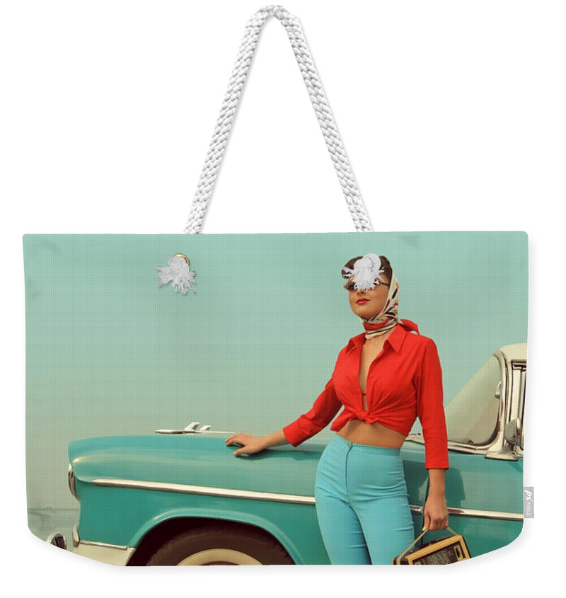 People Weekender Tote Bag featuring the photograph I Am Back by Retroatelier