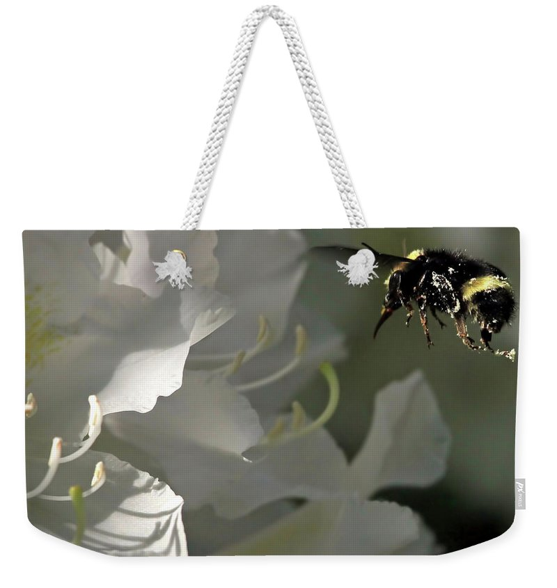 Rhododendron Weekender Tote Bag featuring the photograph I Like Rhodies by Donna Kennedy