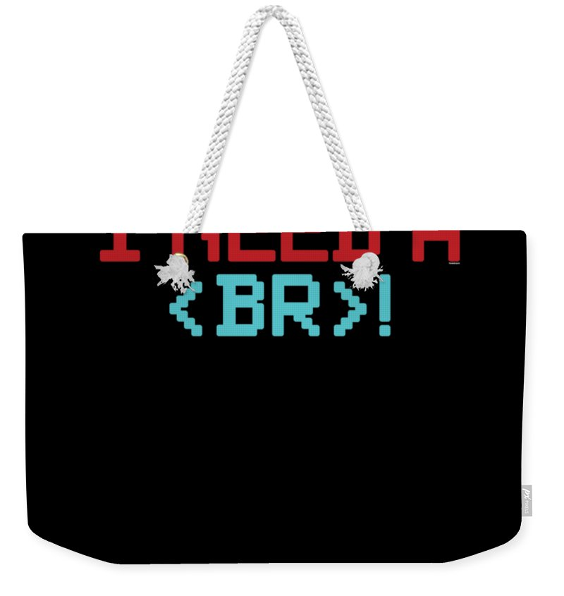 Galaxy Weekender Tote Bag featuring the digital art I Need A Break by Thomas Larch